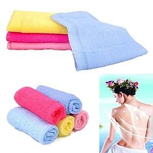 Nailon Cuerpo gamuza de limpieza Lavado Esponja de baño exfoliante Spa toalla de baño toallas de ducha de sauna, nailon, Verde, Medium: Amazon.es: Hogar