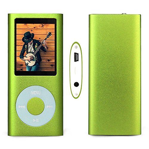 G.G.Martinsen 16 GB Mini Usb Port Slim Small Multi-lingual Selection 1.78 LCD Portable Mp3/Mp4, Mp3Player , Mp4Player , Video Player , Music Player , Media Player , Audio player With Photo Viewer , E-book Reader , Voice Recorder ,Games & Movie-Green