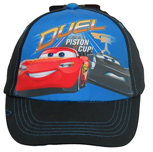 Toddler Disney Cars 3 Piston Cup Lightning McQueen/Jackson Storm Adjustable Blue Hat