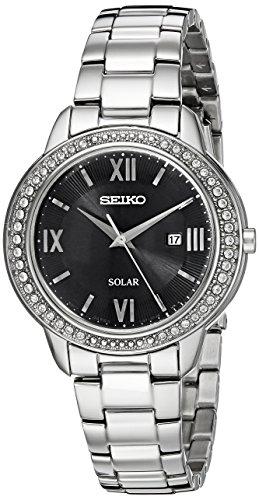 Seiko Women's SUT245 RECRAFT Solar Analog Display Japanese Quartz Silver Watch