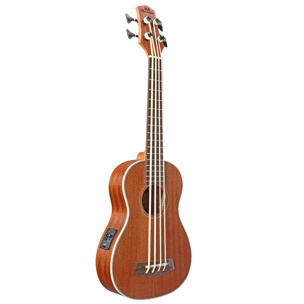 30 inch Electric Acoustic Bass Ukulele Sapele Wood UB-113 Changyun 01-UC-5CO
