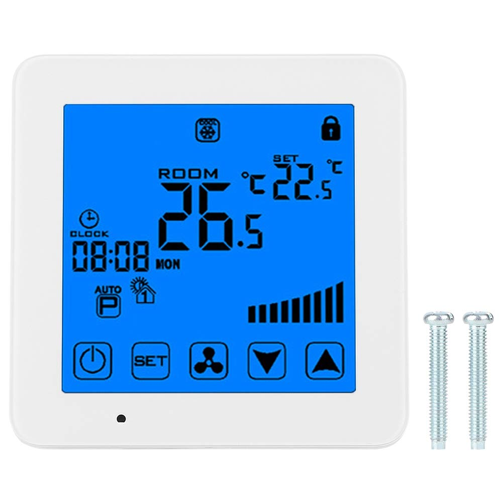 LCD Touchscreen Thermostat Air Conditioner Temperature Controller AC 220V Household Supplies by AUNMAS