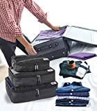 Suvelle 3pc Set Packing Cubes Nylon Travel Luggage