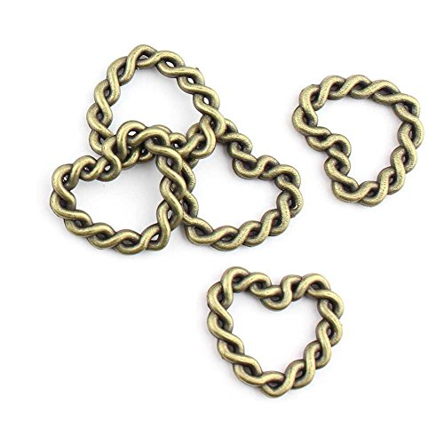 (150 Pieces Jewelry Making Charms Love Heart Twisted Circle pendant wholesale supplies repair)