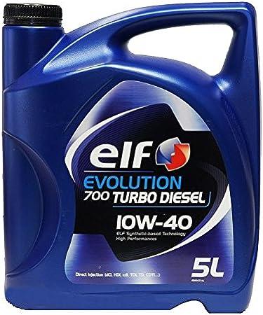 Amazon Fr Elf Bidon Huile Pour Voiture Turbo Diesel 10w40 5 Litres