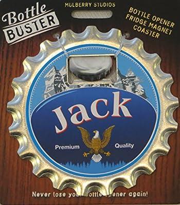 Mulberry Studio Bottle Opener Fridge Magnet Coaster All in One - Jack