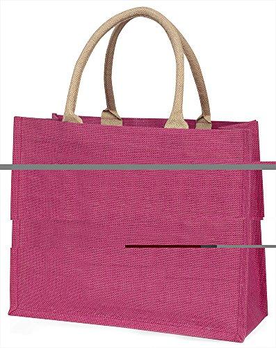 Advanta yorkipoo Welpen Love You Dad Große Einkaufstasche/Weihnachtsgeschenk, Jute, pink, 42x 34,5x 2cm