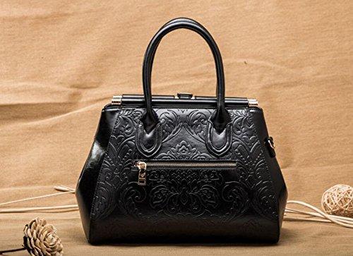 Modèle Sac Zhangor Rétro Bandoulière Main Cuir Élégant Dames Black Imprimé À De En 8qqrawd