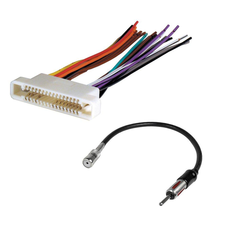 Amazon.com: Buick Pontiac Car Stereo CD Player Wire Harness+ Radio Antenna  Adapter Aftermarket Radio Install: Car Electronics