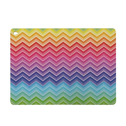 """Case for iPad Mini 4,TPU Leather Ultra Slim Fit Light Weight Smart,Back 7.9"""" Protector Cover,Line Art Wave Like Pattern Symmetrical Geometric"""