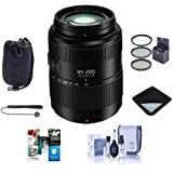 Panasonic Lumix G Vario 45-200mm f/4-5.6 II POWER OPTICAL I.S. Lens Micro Four Thirds - Bundle 52mm Filter Kit, Lens Pouch, Lens Wrap, Cleaning Kit, Capleash II, Software Package