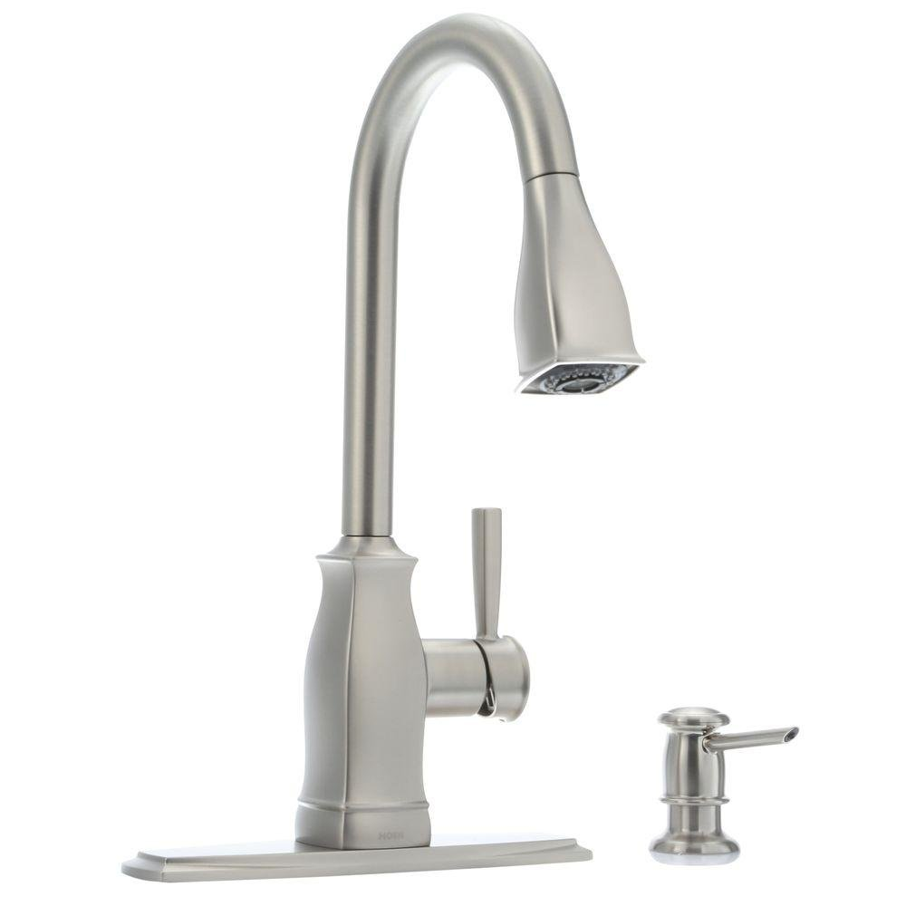 MOEN Hensley 87024MSRS Single-Handle Pull-Down Sprayer Kitchen Faucet with Reflex and Power Clean in Spot Resist Stainless