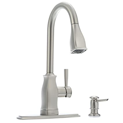 Moen Hensley 87024msrs Single Handle Pull Down Sprayer Kitchen Faucet With Reflex And Power Clean In Spot Resist Stainless