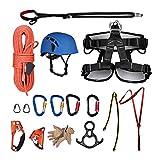 Gracefulvara Outdoor Mountaineering Climbing Speed Drop Equipment Aerial Climbing Descending Exploration Suit