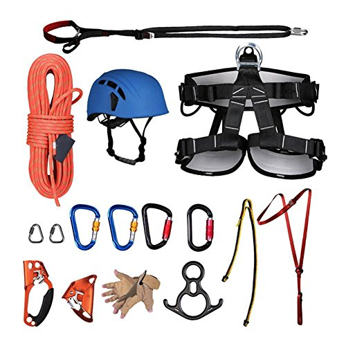 Gracefulvara Outdoor Mountaineering Climbing Speed Drop Equipment Aerial Climbing Descending Exploration Suit by Gracefulvara