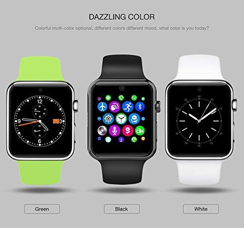 DM-09 Reloj Inteligente Bluetooth 2.5d Arc HD de pantalla Tarjeta SIM Soporte Portátil SmartWatch para dispositivos iOS y Android: Amazon.es: Electrónica