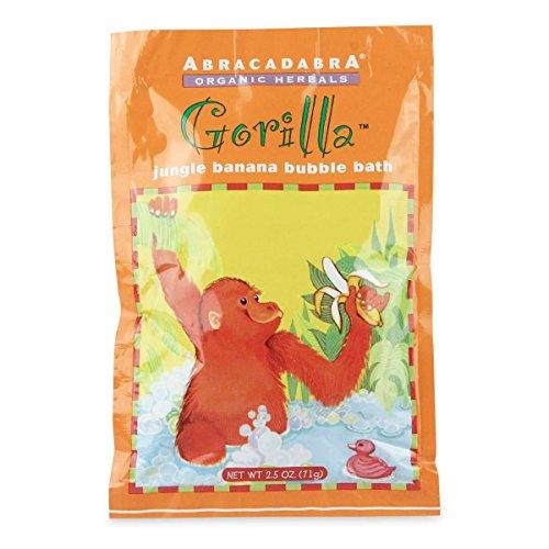 Abracadabra Organic Herbals Bubble Bath, Gorilla Jungle Banana, 2.5 Ounce Abracadabra Bath