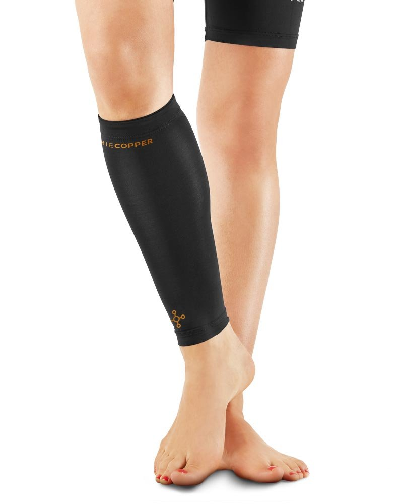Tommie Copper Recovery Vigor Calf Sleeve, Black, Small
