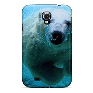 Hot Snap-on Underwater Polar Bear Hard Cover Case/ Protective Case For Galaxy S4