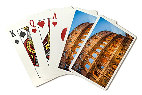 Rome, Italy - Colosseum (Playing Card Deck - 52 Card Poker Size with Jokers) by Lantern Press