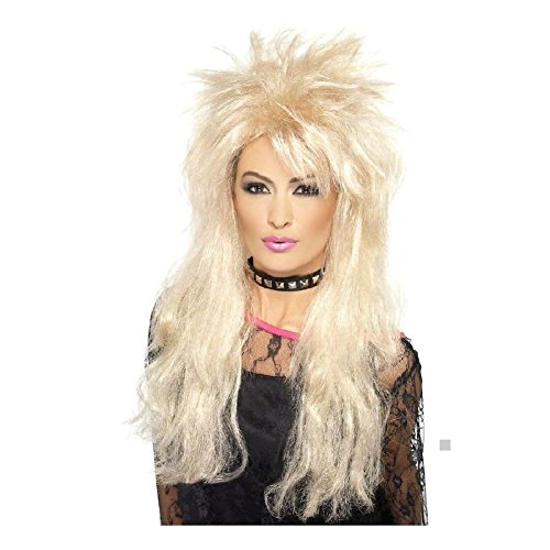 Blonde Seduction Wig (80s Long Mullet Wig Costume Accessory Adult Halloween)
