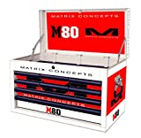 Matrix Concepts M80 812 M80 Race Series White/Red 8 Drawer Tool Box with Clash Graphic Kit