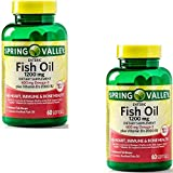 Spring Valley – Fish Oil 1200 mg Plus Vitamin D3 2000 IU, Enteric, 60 Softgels (2 Pack) Review