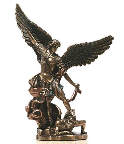 Veronese Saint St. Michael Archangel Defeated Lucifer Statue Figure Sculpture Bronze Finish 7.87