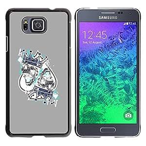 """For Samsung Galaxy Alpha G850 Case , Juego Rey Corazones Tarjetas Poker"""" - Diseño Patrón Teléfono Caso Cubierta Case Bumper Duro Protección Case Cover Funda"""