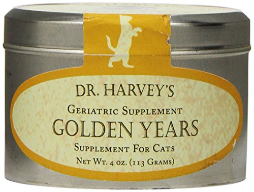 Dr. Harvey's Golden Years Herbal Supplement for Senior Cats, 4-Ounce Tin