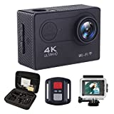ALOFOX 4K Action Camera WiFi 16MP Waterproof Underwater Camera Ultra 170 Angel 2 Inch LCD Display - Rechargeable Batteries,30M Waterproof Case and Portable Package including Full Accessories Kits Action Cameras ALOFOX