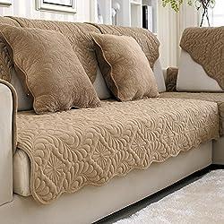Thickening Short Plush Sofa Cushion In Winter/Fabric Seat Cushion /  Non Slip Leather ...