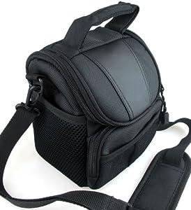 Co2Crea(TM) Black Soft Nylon Digital Camera Case Bag Cover Pouch for Sony Cyber-shot DSC- Cyber-shot DSC-H400 H300 HX400V HX300 H200 HX200V RX1R RX1 RX10 II NEX 5T 3N 5R F3 F6 Alpha A5100 A3000 7 from Co2Crea