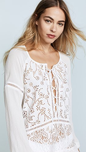 For Love & Lemons Women's Olympia Lace Cover Up Tunic, White, Small by For Love & Lemons (Image #5)