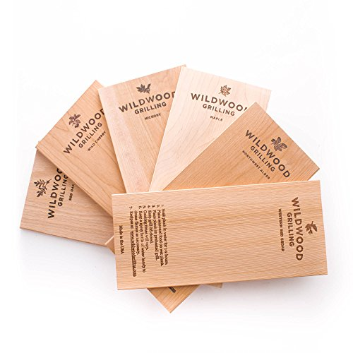 Lowest Prices! Wildwood Grilling Wood Grilling Plank Variety Pack + Recipe e-Book - 6 Flavors - Ceda...