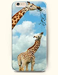 OOFIT Iphone 5/5S/Two Giraffes Eating Leaves