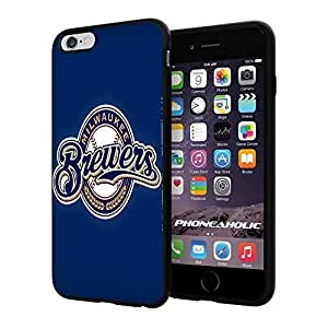 MLB Milwaukee Brewers Baseball,Cool Case Cover For Apple Iphone 6 Plus 5.5 Inch Smartphone Collector iphone PC Hard Case Black