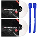 Native Instruments Traktor Scratch Control Vinyl MK2 (White) Pair w/ Cable Ties by Native Instruments
