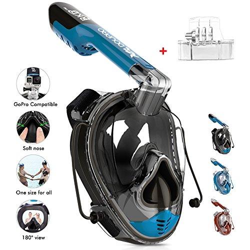 DOUPRO Snorkel Mask Universal Size Easybreath S...
