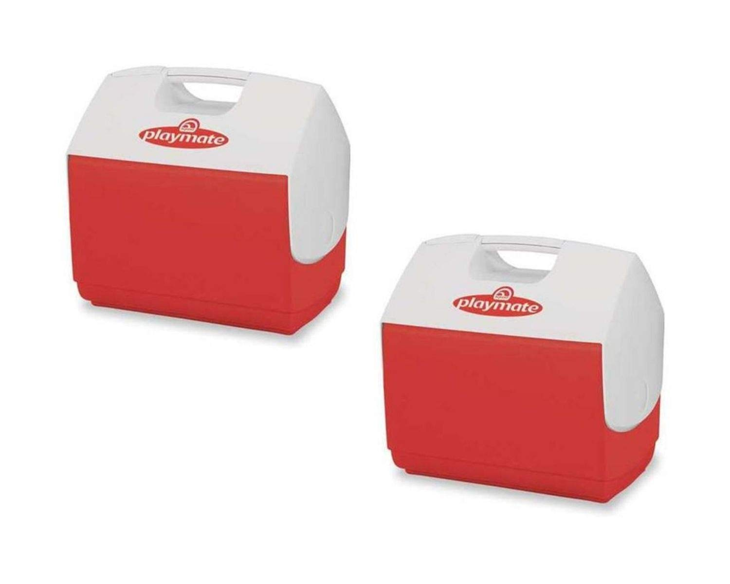 Igloo Playmate, Personal Sized Cooler (2 Set, 16 Quart, Red/White)