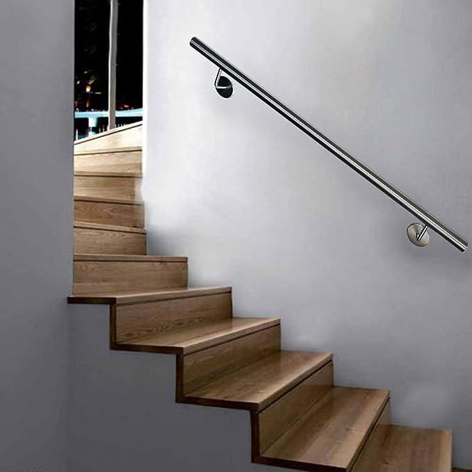 FROADP Pasamanos de acero inoxidable AISI304 Contra la barandilla de la pared para escaleras internas y externas (Plata, 120 cm): Amazon.es: Bricolaje y herramientas