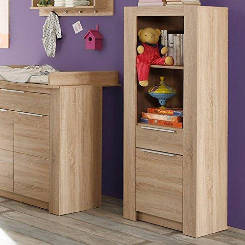 Furnline Nursery Room Storage Cabinet Carlotta Oak Light Rough Cut, Imitation, 58x18x152 cm 1483-661-45