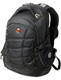 SA9769 Black Laptop Backpack - Fits Most 15 Inch Laptops and Tablets