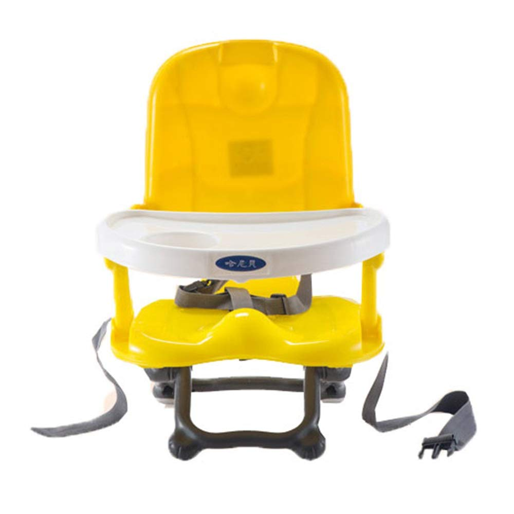 Kids' Desk & Chair Sets Feeding Dinning Chair Infant Foldable High Chair with Removable Tray Travel Booster Seat (Color : Yellow, Size : 363650cm) by Liuxina