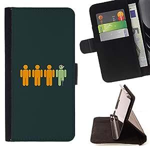 BullDog Case - FOR/Sony Xperia Z1 Compact D5503 / - / Funny Pirate /- Monedero de cuero de la PU Llevar cubierta de la caja con el ID Credit Card Slots Flip funda de cuer