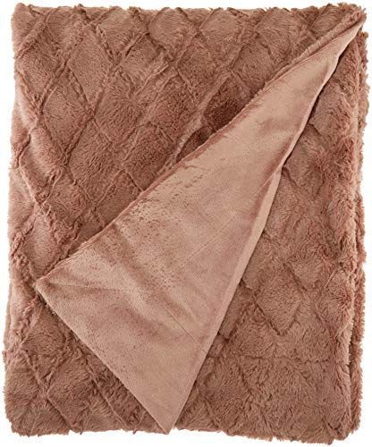 Northpoint Ethereal Workshop Fur Throw, 50x60, Camel