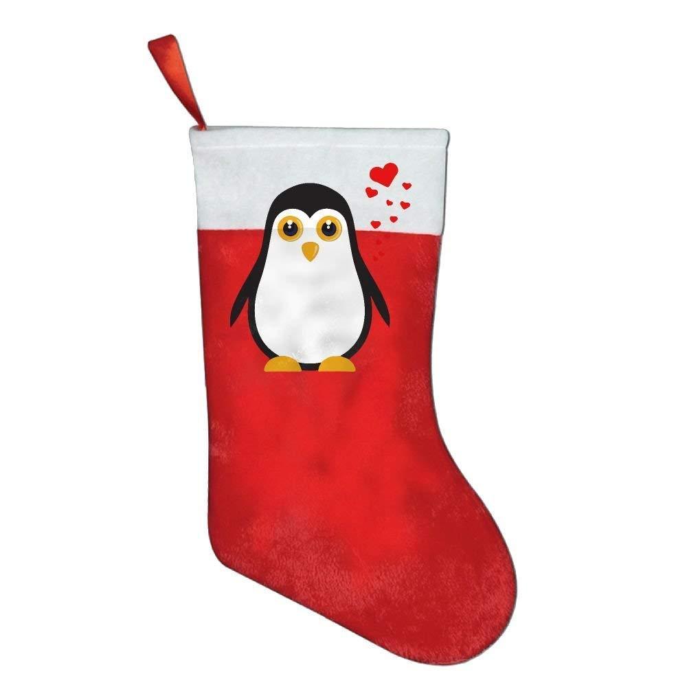Cute I Love Penguins Felt Christmas Stocking Party Accessory