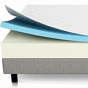 LUCID 10 Inch Gel Memory Foam Mattress - Dual-Layered - CertiPUR-US Certified - 25-Year Warranty - Queen