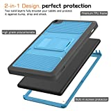 MoKo Case for Fire HD 8 2016 Tablet - Full Body Rugged Cover with Built-in Screen Protector for Fire HD 8 (Previous 6th Gen-2016 Release ONLY),BLUE & Dark GRAY (NOT FIT the Latest 7th Gen 2017 Tablet)