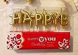 Chic Happy Birthday Metallic Letter Candle Cake